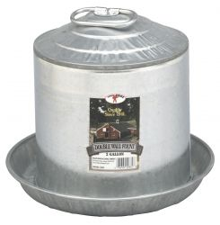 Miller Little Giant Galvanized Poultry Waterer 2 Gallon