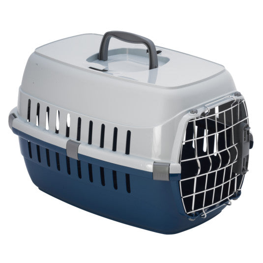 Moderna Roadrunner 1 Spring Lock Pet Carrier Blueberry (Holds up to 11lbs)