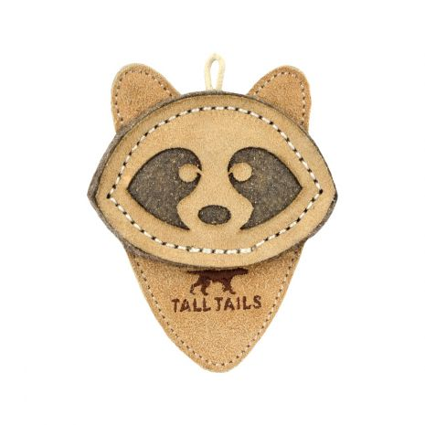 Tall Tails Natural Leather Racoon Toy