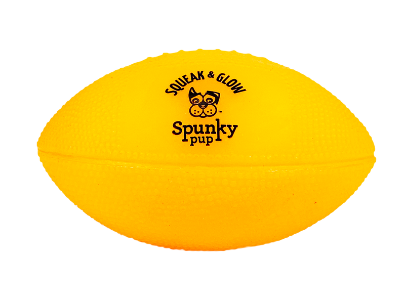 Spunky Pup Squeak & Glow Football (assorted colors)