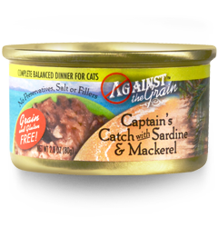 Against the Grain Captain's Catch with Sardine & Mackerel 2.8oz cans