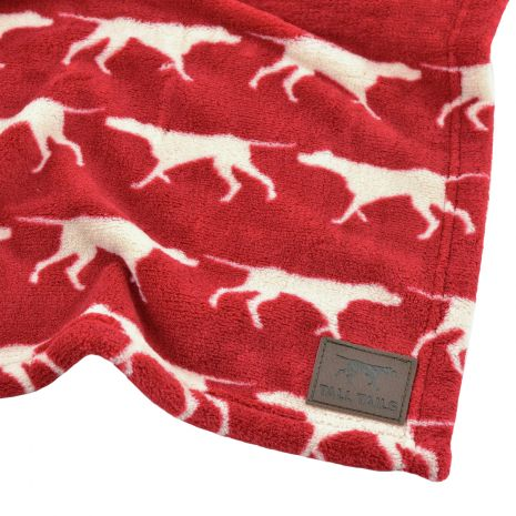 "Tall Tails 30"" x 40"" Fleece Red Icon Blanket"