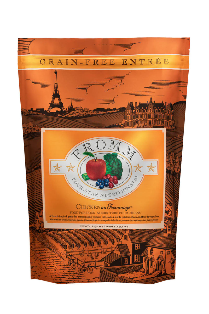 Fromm Family Four Star Chicken au Frommage Dog Food 4lbs