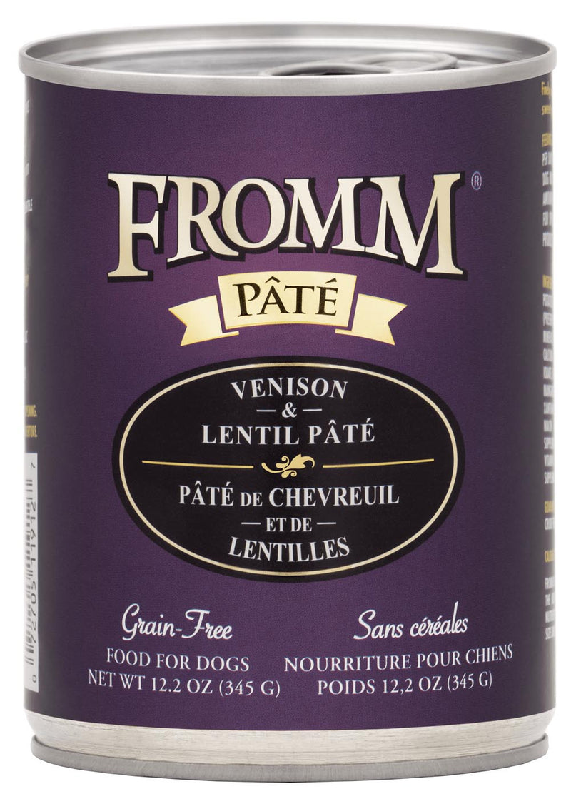 Fromm Family Gold Venison & Lentil Pate Canned Dog Food