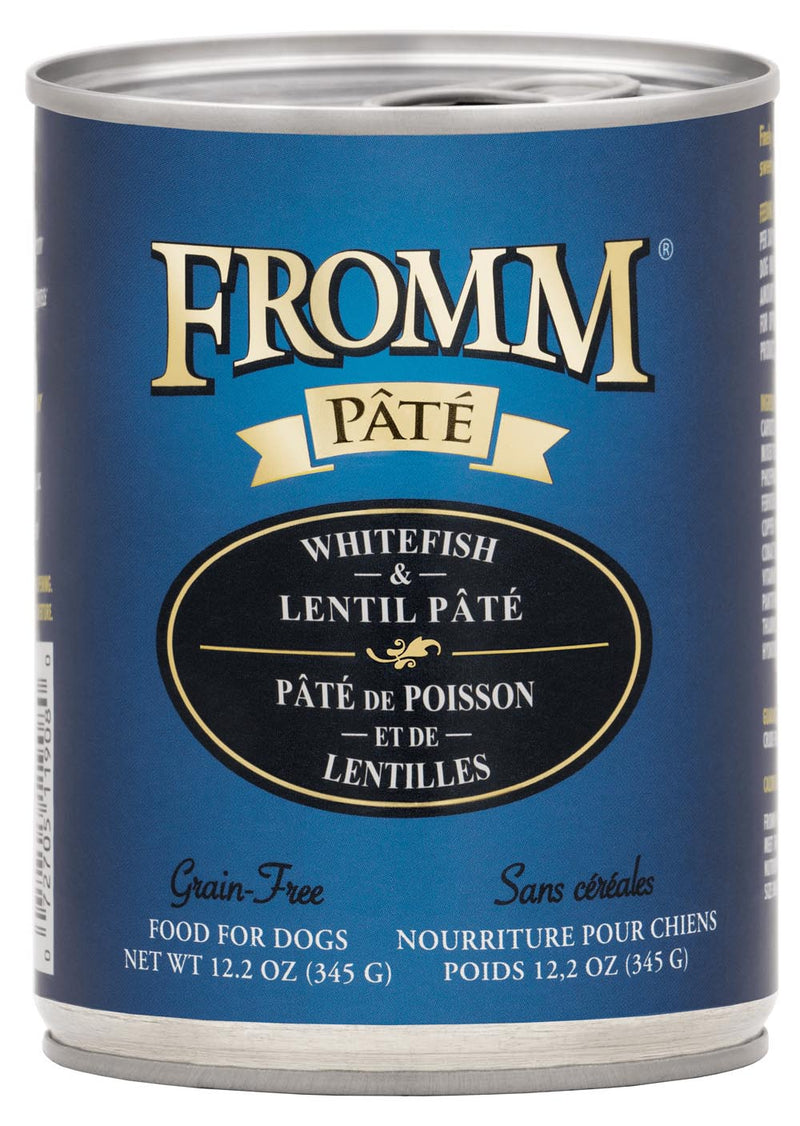 Fromm Gold Whitefish and Lentil Pate Canned Dog Food