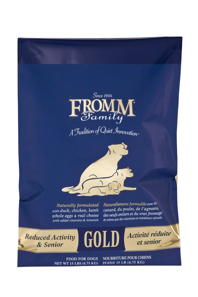 Fromm Family Gold Reduced Activity/Senior Dog Food 15lbs