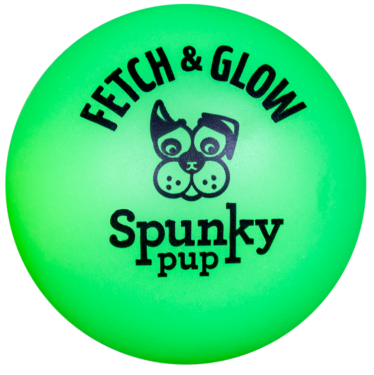 Spunky Pup Fetch & Glow Large Ball (assorted colors)