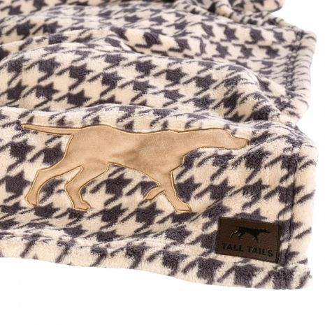 "Tall Tails 30"" x 40"" Houndstooth Fleece Blanket"