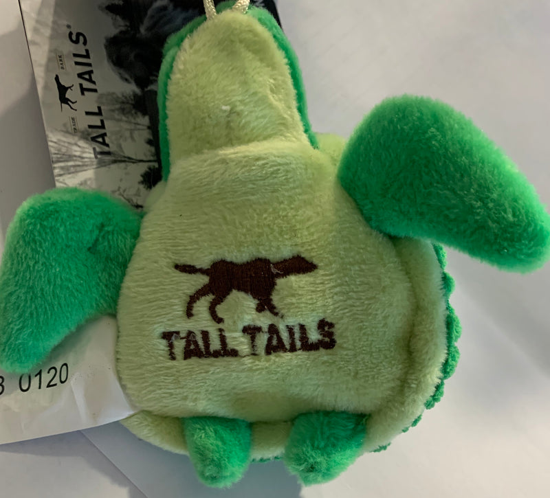 Tall Tails 4in Plush Turtle with Squeaker Toy