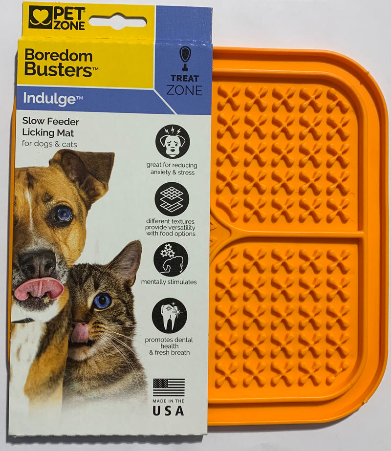 Pet Zone Boredom Busters Indulge Slow Feeder Licking Mat for Dogs & Cats