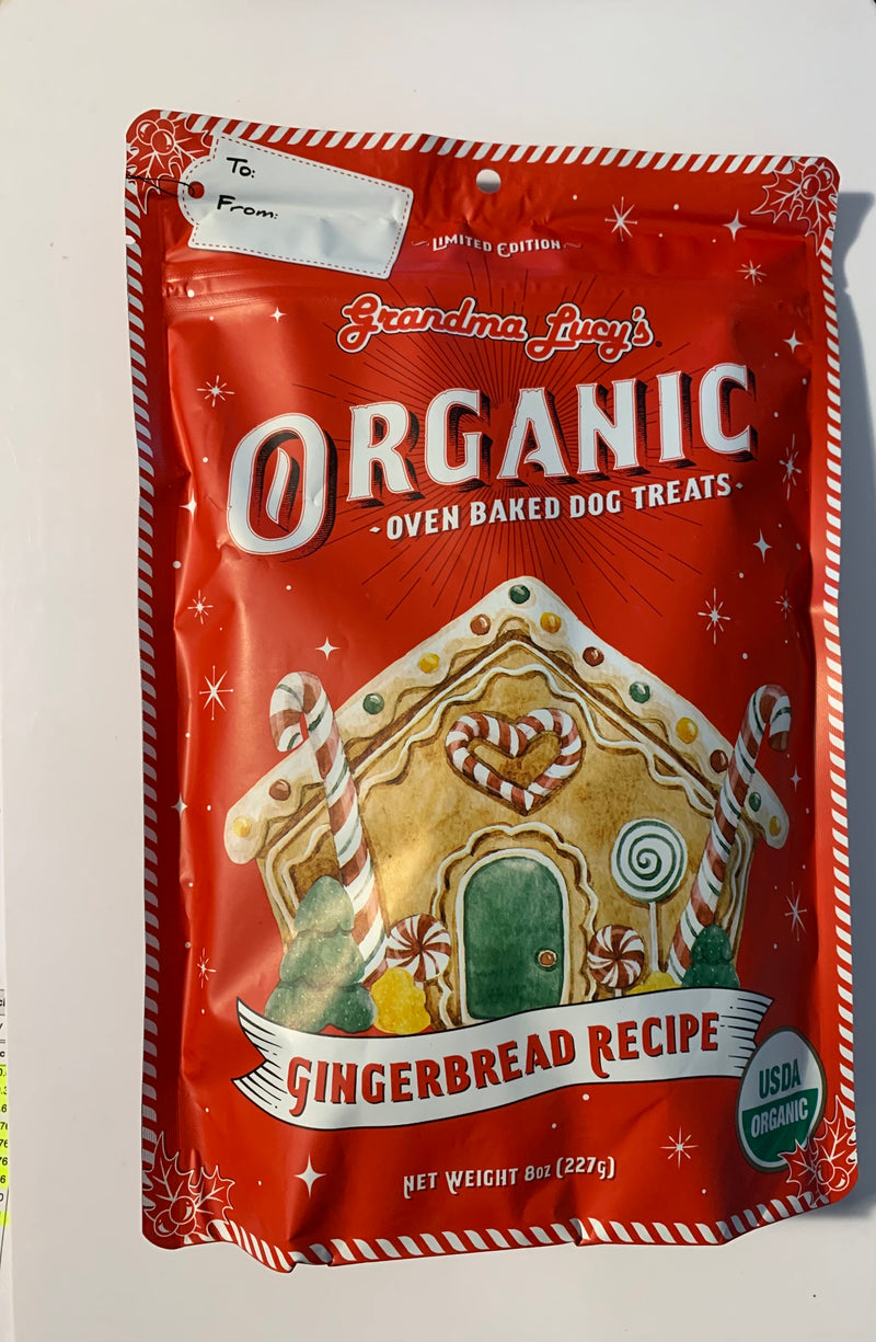 Grandma Lucy's Organic Gingerbread Recipe Oven Baked Dog Treats 8oz