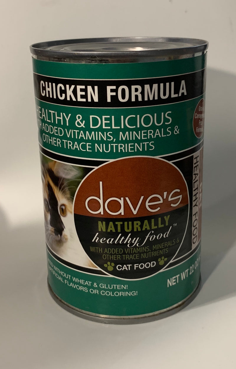 Dave's Naturally Healthy Chicken Formula Canned Cat Food 22oz can