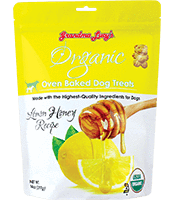Grandma Lucy's Organic Lemon Honey Oven Baked Dog Treats 14oz