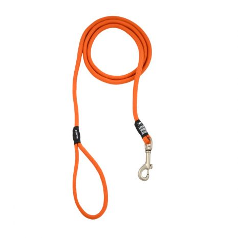 "Tall Tails Small/Medium Orange Rope Leash 60""x5/16"" for dogs under 50lbs"
