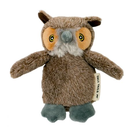 Tall Tails 5in Owl Squeaker Toy Christmas