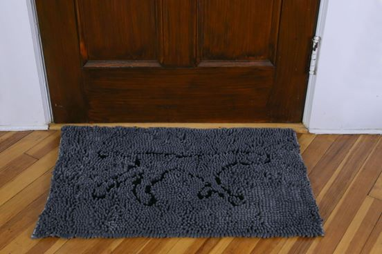 Tall Tails 31x20 Wet Paws mat Charcoal (Grey)