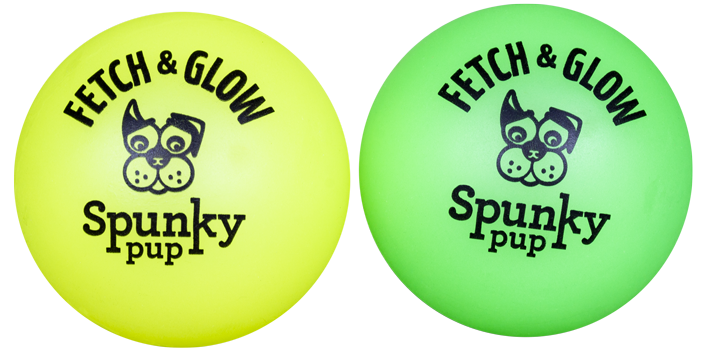Spunky Pup Fetch & Glow Medium Ball (assorted colors)