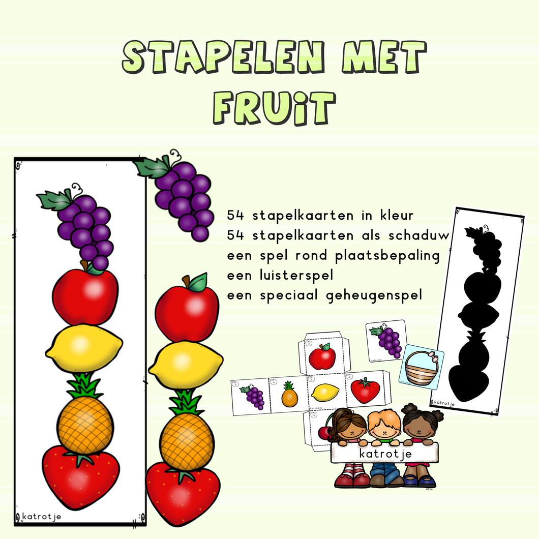 stapelen met fruit