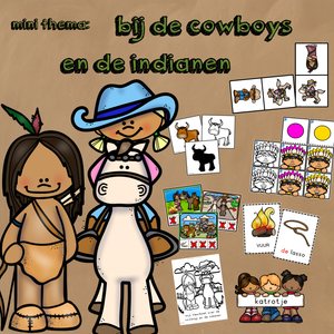 mini thema bij de cowboys en de indianen
