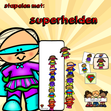 stapelen met superhelden