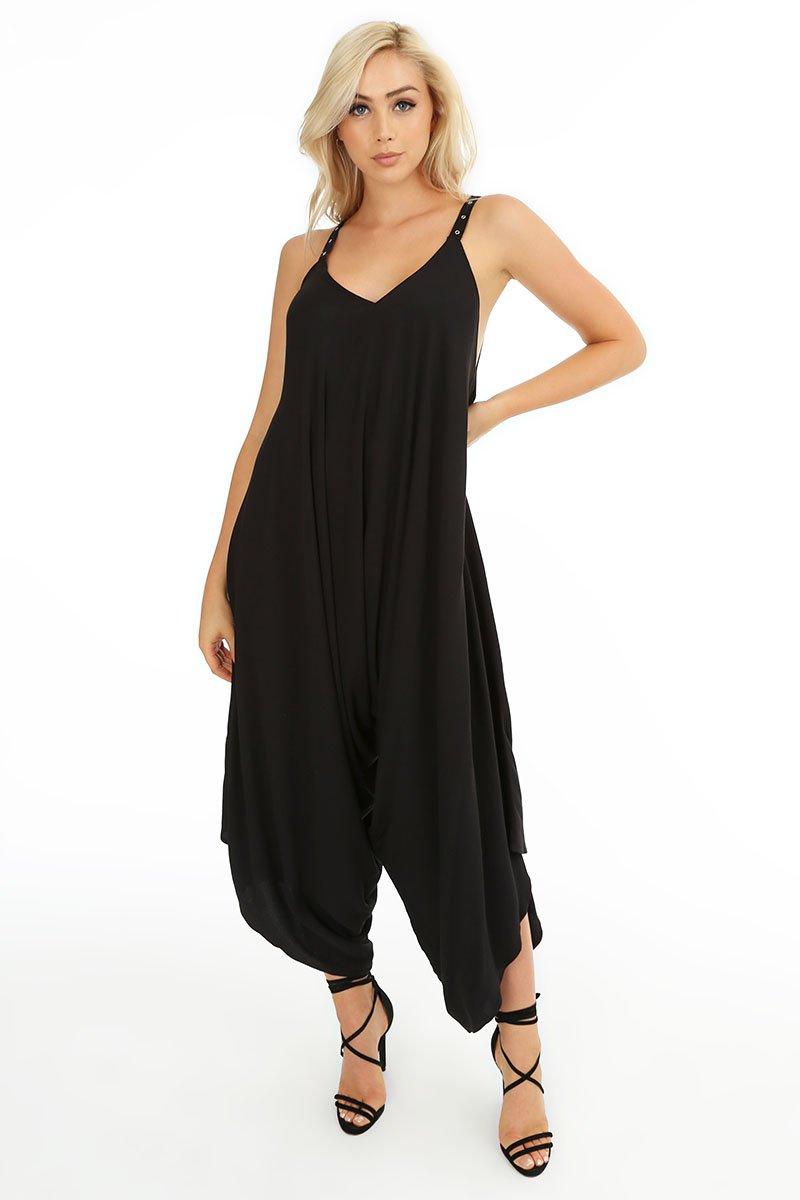 Draped V-Neck Jumpsuit - bobi Los Angeles
