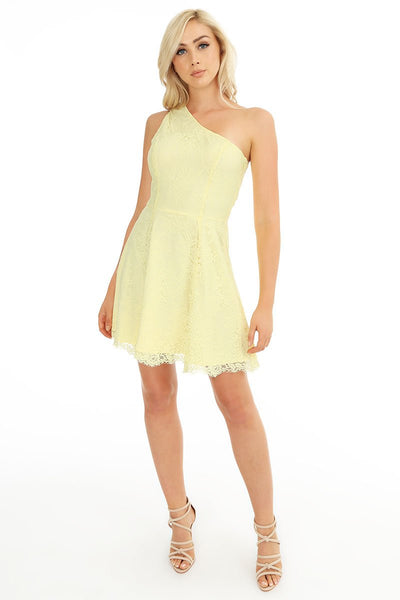 One Shoulder Lace Dress - bobi Los Angeles