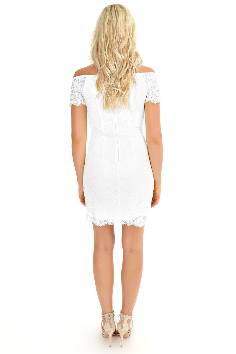 Off Shoulder Lace Dress - bobi Los Angeles