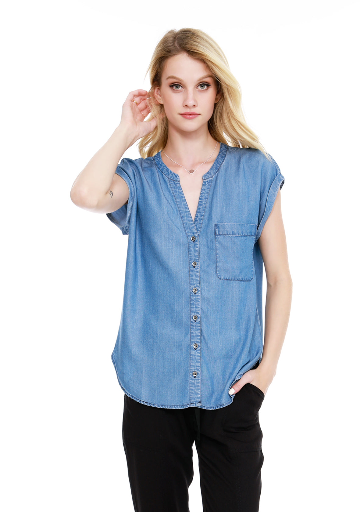 Short Sleeve Dolman Shirt - bobi Los Angeles