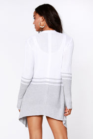 Draped Color-Block Cardigan - bobi Los Angeles