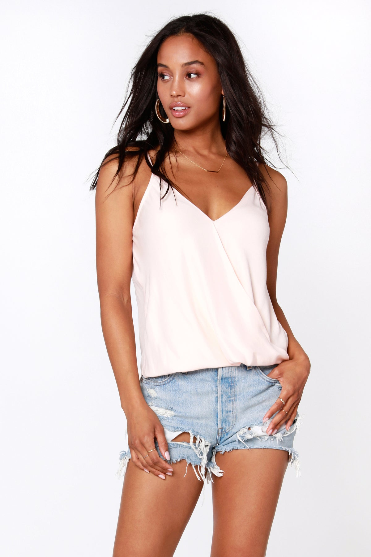 Surplice Cami Blouse - bobi Los Angeles