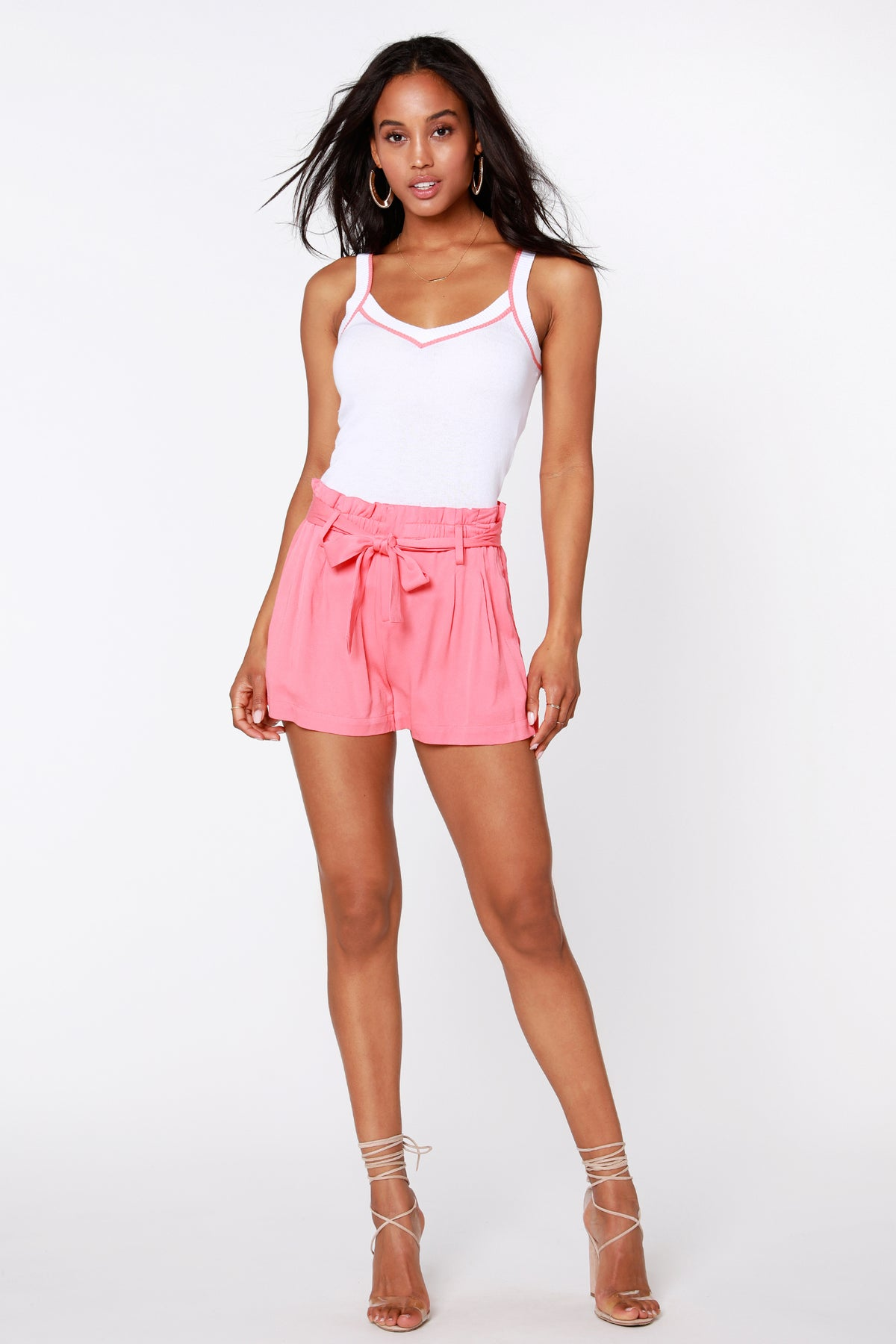 Paper Bag Waist Shorts - bobi Los Angeles