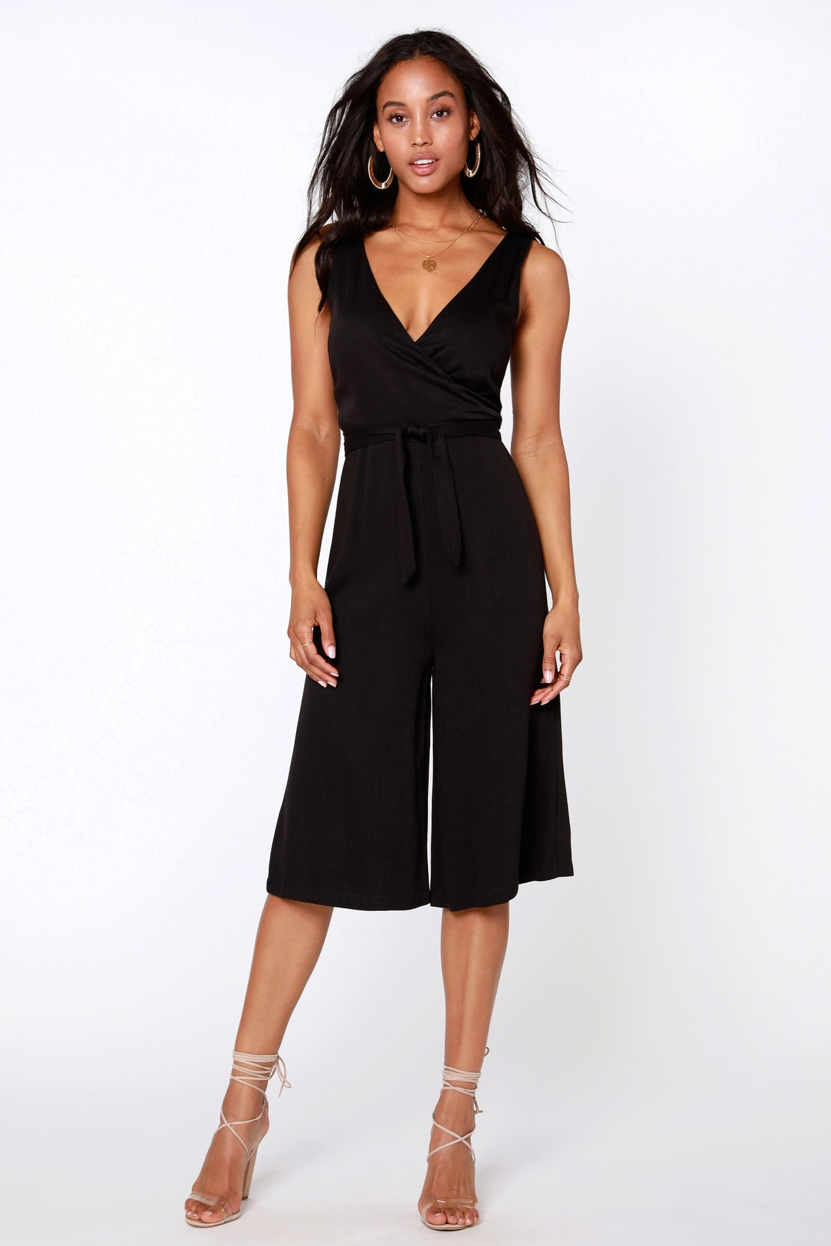 Crop Wrap Jumpsuit - bobi Los Angeles