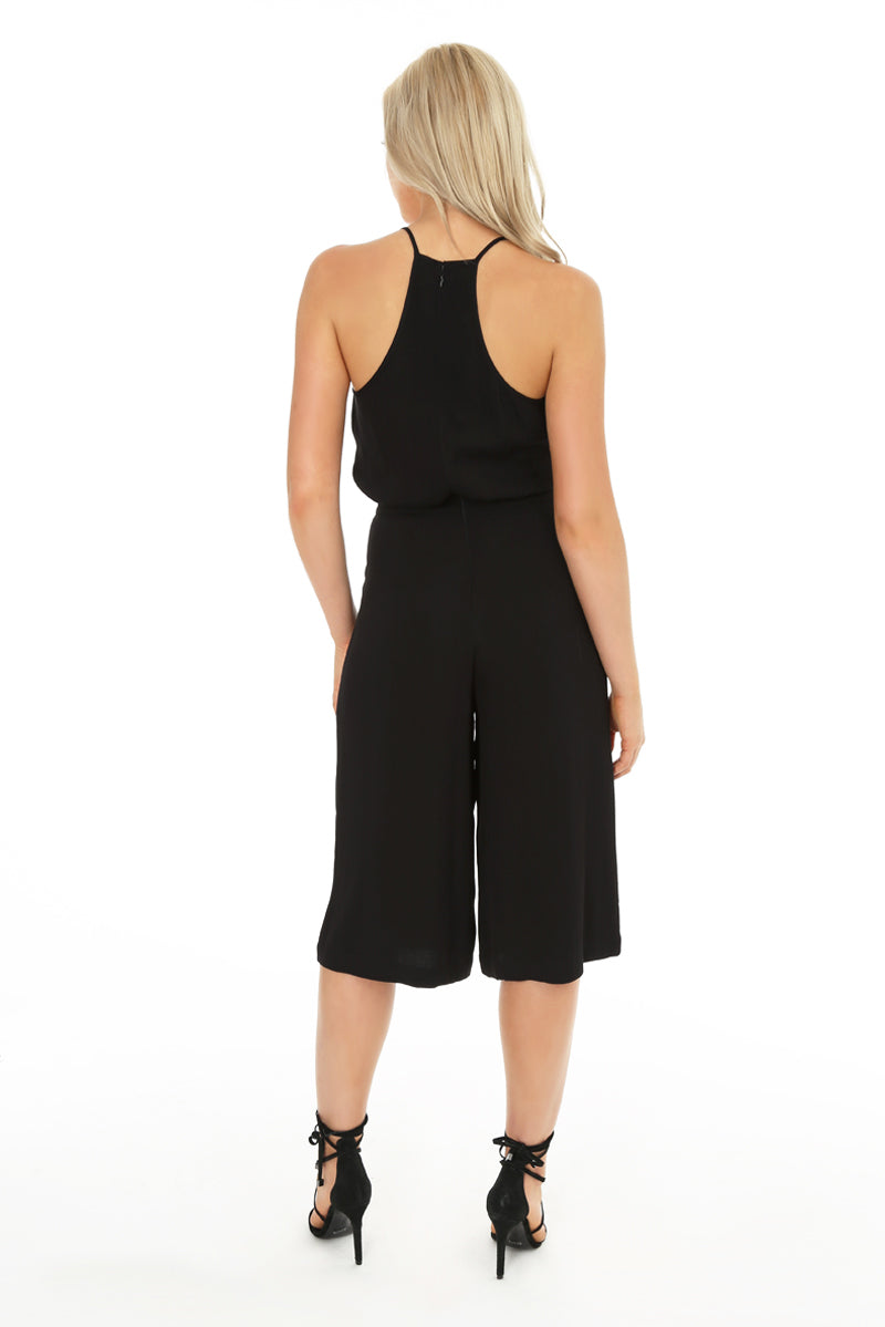 Ruffle Culotte Pocket Jumpsuit - bobi Los Angeles