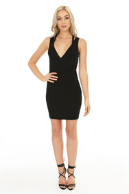 Open Back Strappy Bodycon Dress - bobi Los Angeles