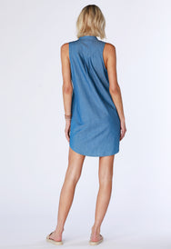 Sleeveless Shirtdress - bobi Los Angeles