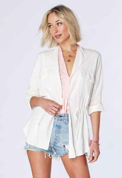 Utility Linen Jacket - bobi Los Angeles
