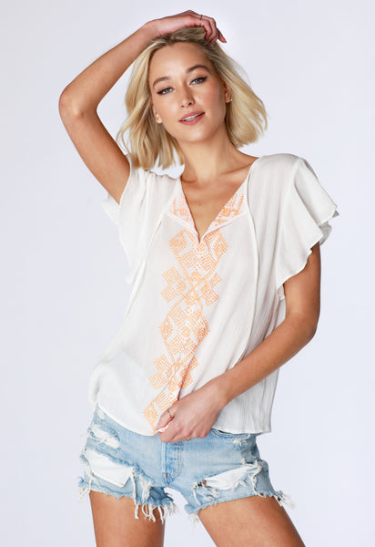 Flutter Sleeve Blouse - bobi Los Angeles