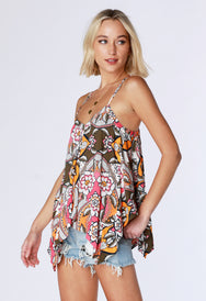 Handkerchief Cami Blouse - bobi Los Angeles