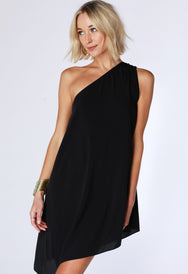 One Shoulder Asymmetrical dress - bobi Los Angeles