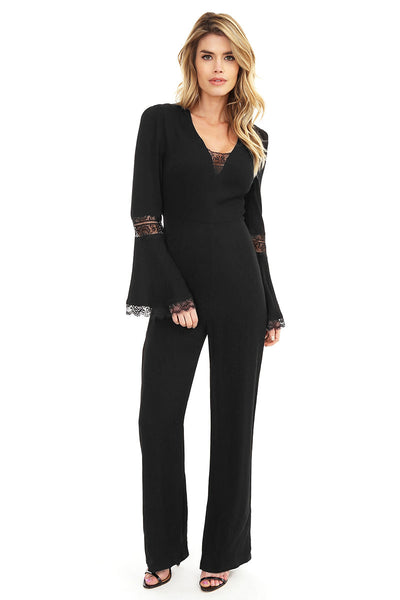 Lace Trim Jumpsuit - bobi Los Angeles