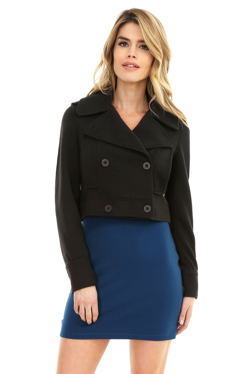 Cropped Peacoat - bobi Los Angeles