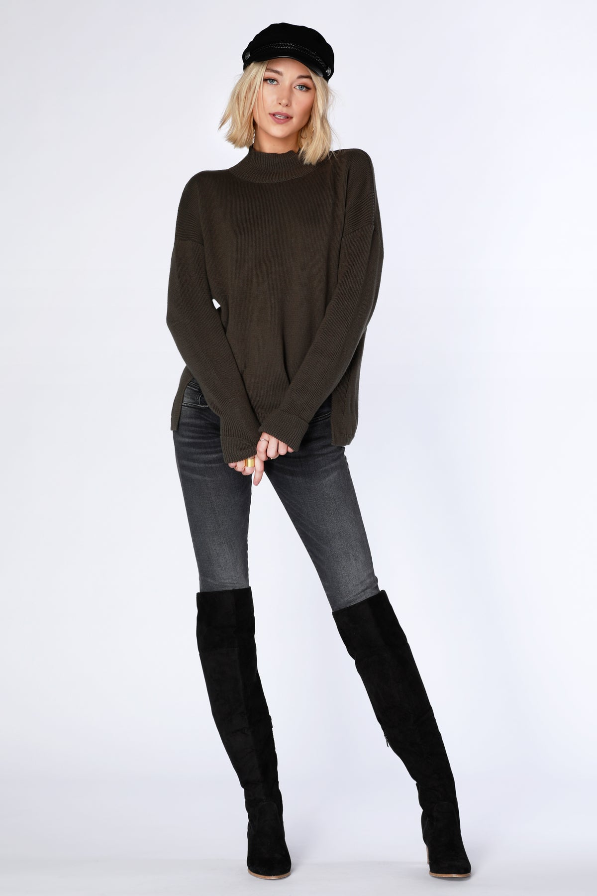 Turtleneck Sweater - bobi Los Angeles