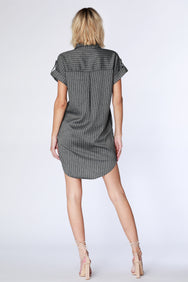 Stripe Shirtdress - bobi Los Angeles