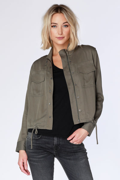 Drawstring Hem Jacket - bobi Los Angeles