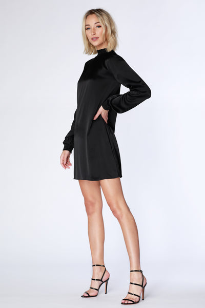 High Neck Bishop Sleeve Dress - bobi Los Angeles