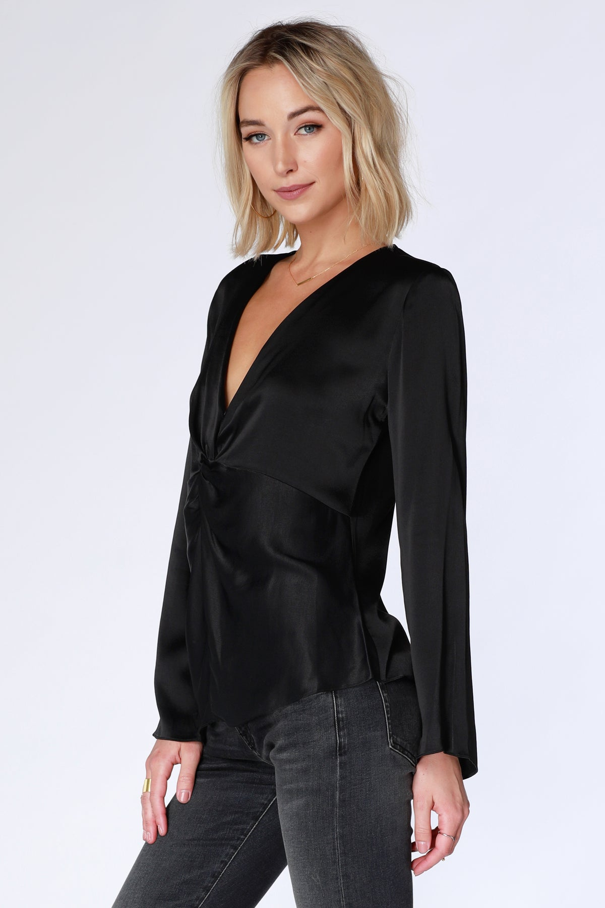 Twist Front Blouse - bobi Los Angeles
