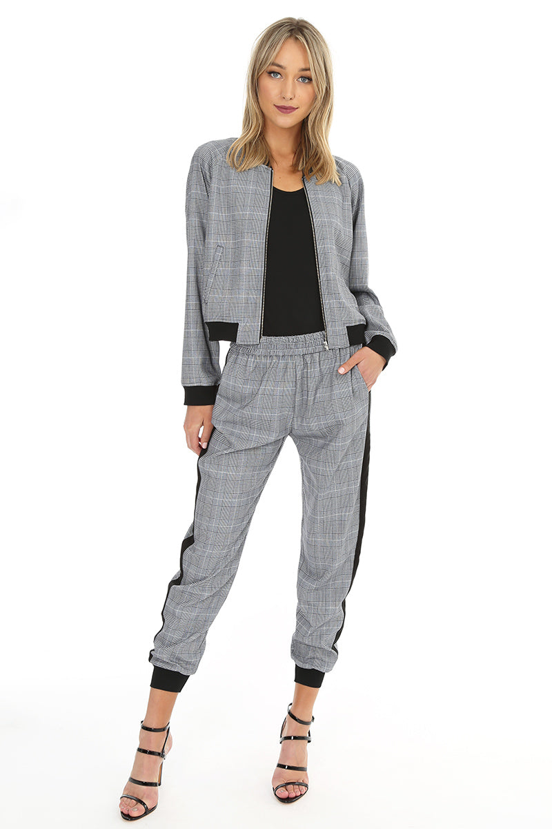 Plaid Jogger Pant - bobi Los Angeles
