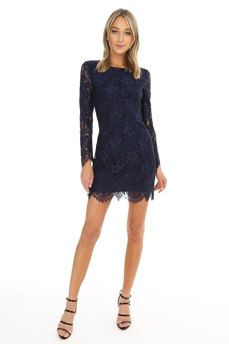 Long Sleeve Lace Dress - bobi Los Angeles