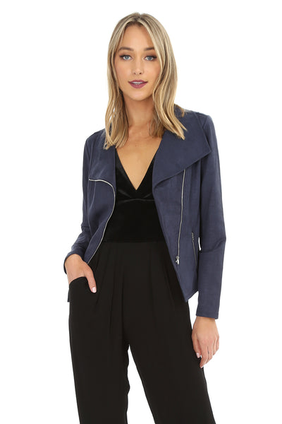 Sueded Moto Jacket - bobi Los Angeles