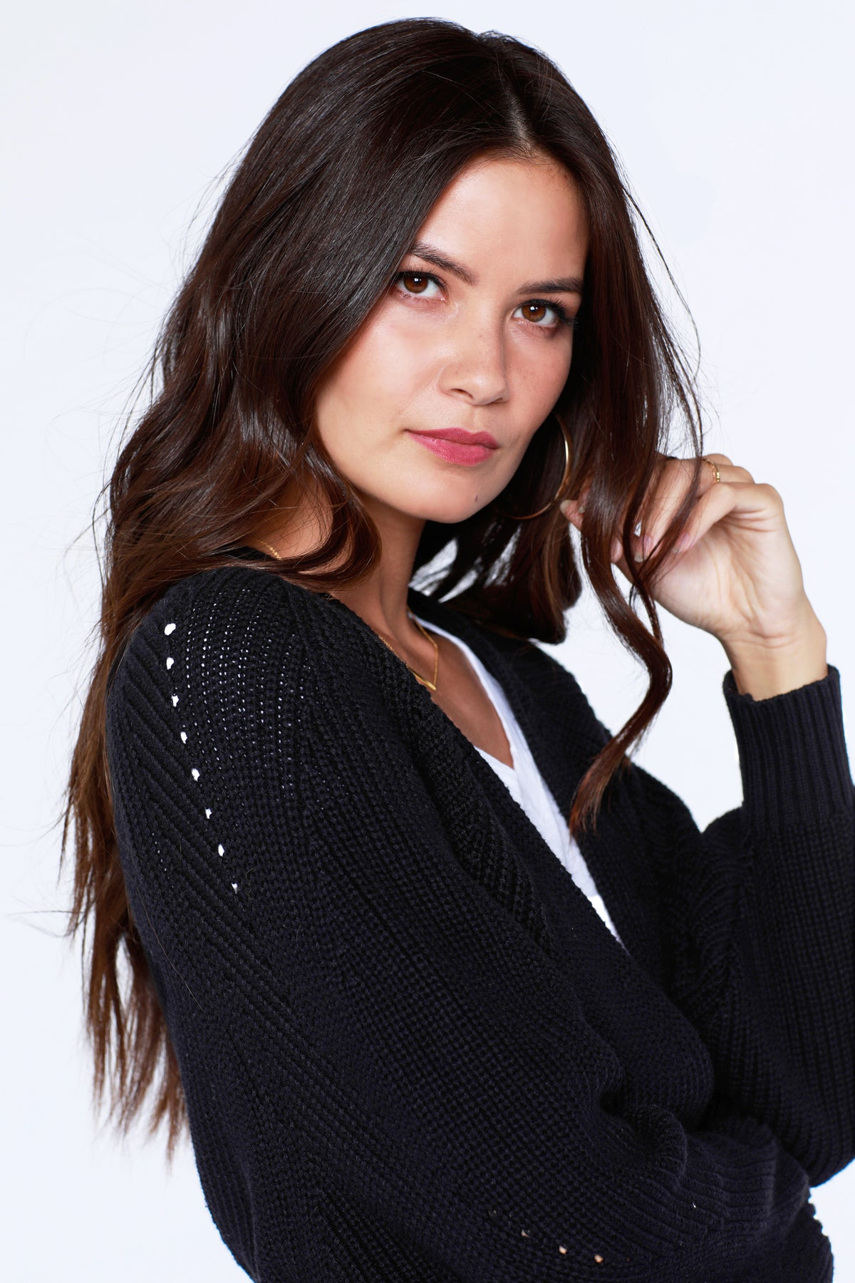 Boxy Open-Front Cardigan - bobi Los Angeles